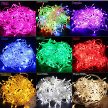 10M 100Led Waterproof 110V/220V LED Holiday String Lights For Christmas Festival Party Fairy Colorful Xmas LED Lights In EU US