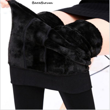 Barathrum 2017 Sexy Leggings Women's Warm Leggings Fashion Plus Thick Velvet Warm Seamlessly Cashmere Leggings(China)