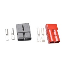 175A 600V Anderson Power Connector Plug 1pc Plug + 2pc Contacts Red Grey Color Two Pole Double Pole Solar Forklift Pole(China)