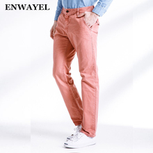ENWAYEL 2017 Spring Autumn Solid Color Top Quality 100% Cotton Cargo Pants Men Army Casual Men's Work Pantalon Trousers 3262