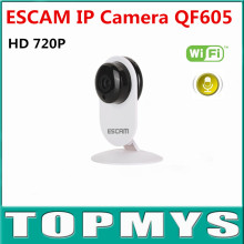 Free Shipping ESCAM QF605 3.6mm Lens Rotatable Mini Wireless IP Camera WIFI ONVIF2.0 Audio Camera Support Alarm Motion Detection