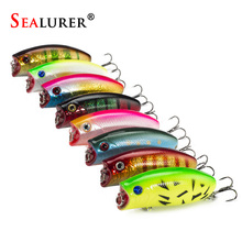 SEALURER 8pcs/lot Fishing Poppers 11g/5.5cm Fishing Lure Top Water Pesca Fish Bait Wobbler Isca Artificial Hard Bait Fly Fishing