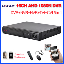 LOFAM Home surveillance 16ch DVR HD AHD 1080N 720P security CCTV DVR recorder HDMI 1080P 16 channel standalone WIFI AHD DVR NVR