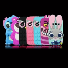 3D Silicon Stitch Bunny Owl Sulley Cat Cartoon Soft Phone Back Cover Case for Samsung Galaxy Ace 4 G313 G313H Neo G318ML(China)