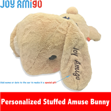 Personalized Monogrammed Soft Amuse Bunny With The Name Letter Embroidered On Ear Stuffed Animal Teddy Toy Special Gift For Kids