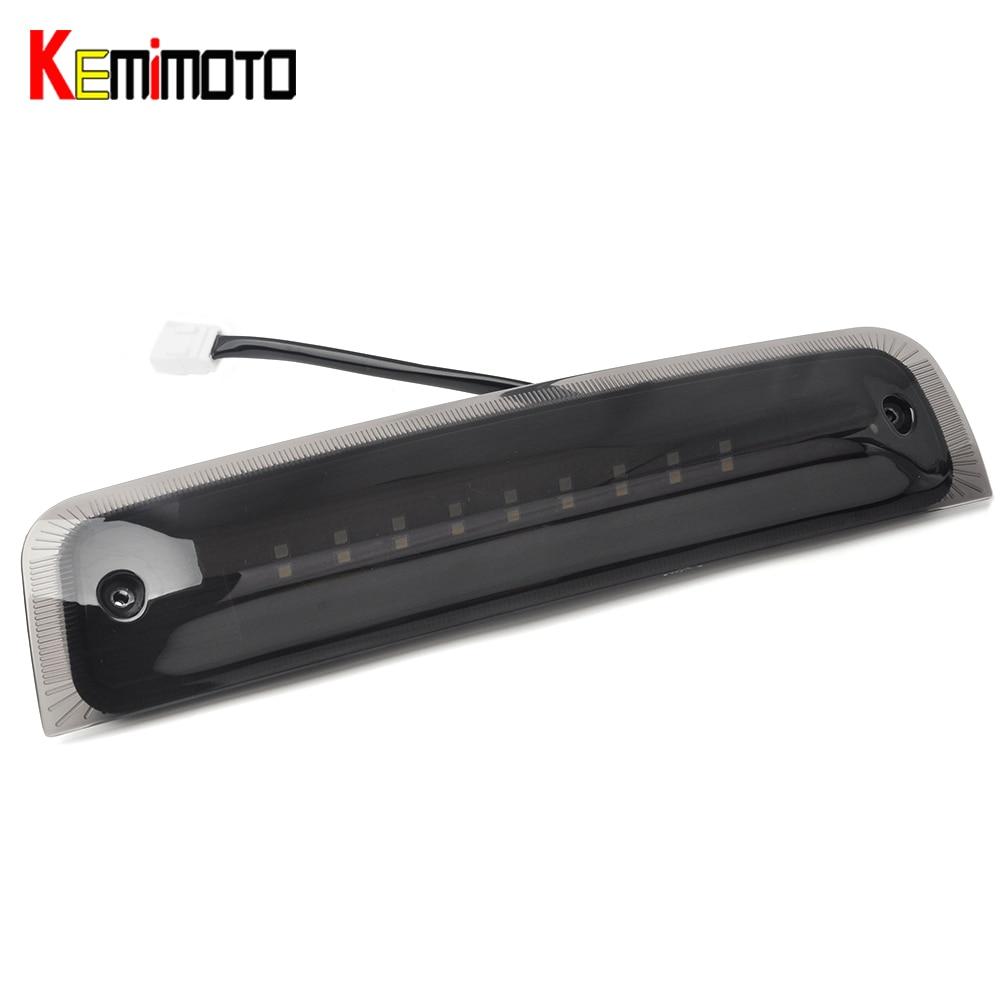KEMiMOTO For Dodge Ram 1500 2010-16 Ram 2500 3500 Black LED 3rd Brake Cargo Light 2009 2010 2011 2012 2013 2014<br>