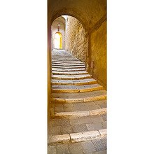2pcs 38.5*200cm 3D Door Stickers Gate Decor Waterproof PVC Self-adhesive Wall Stickers for European Bedroom Living Room