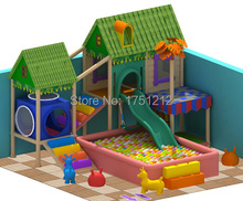 Custom-made Attractive House Style Indoor Playground Set Safe Indoor Naughty Castle HZ-5328a