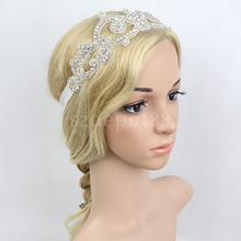 Princess Wedding Bride Hairband Diamante Crystal Flapper Headband 1920s Headpiece Fancy Dress Costume