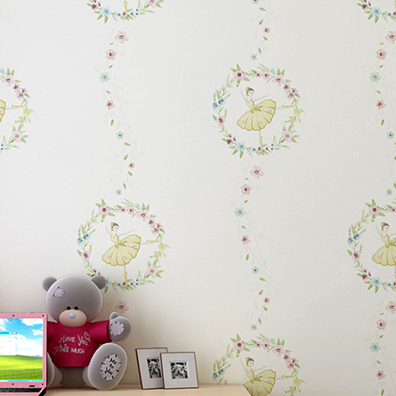 2016 children new wallpaper The ballet girl kid cartoon bedroom<br><br>Aliexpress
