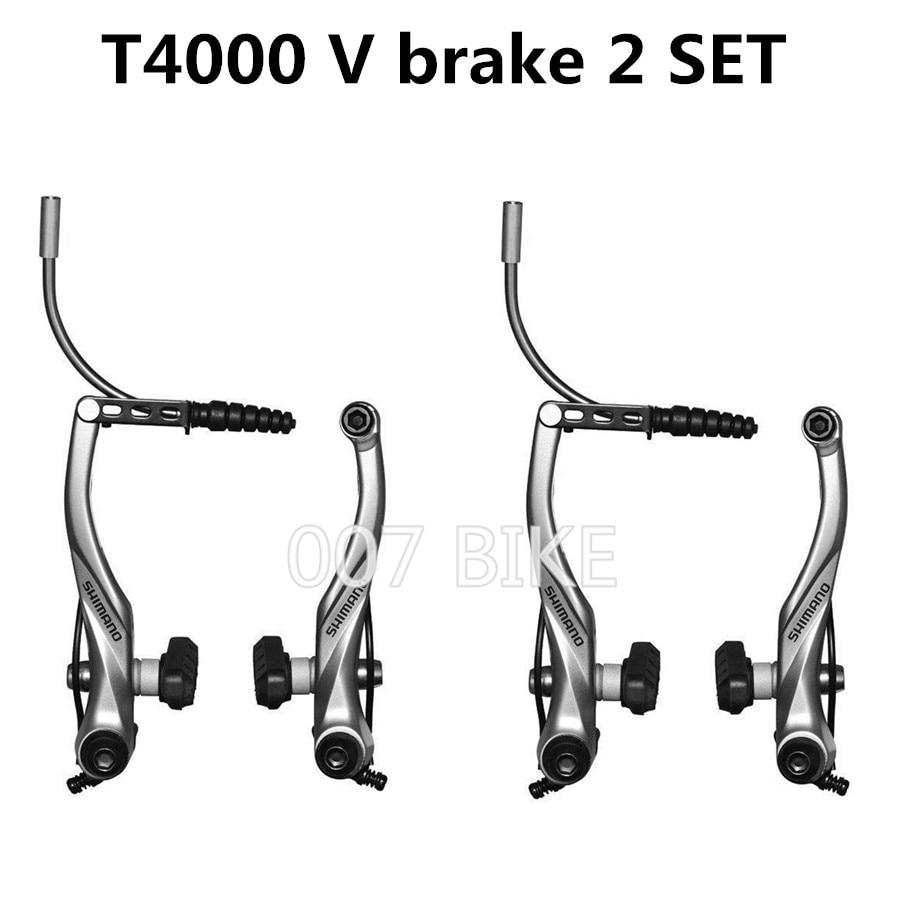 Shimano Alivio BR-T4000 V-Brake Rim Caliper X-Type Mountain Bike Black Front