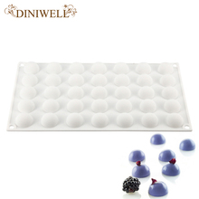 DINIWELL 3D Mini 35-Cavity Round Ball Shaped Silicone Cake Baking Mold For Chocolate Fondant Ice Cream Cube Decorating Tools(China)