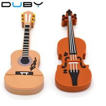 100% real capacity USB flash drive promotion!! usb creativo Wholesale guitar volin 16GB Memory USB Flash Drive 16-711
