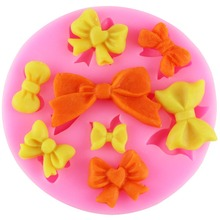 Bow Silicone Mold Christmas Fondant Chocolate Molds Wedding Cake Decorating Craft Moulds Candy Soap Molds Kitchen Accessories