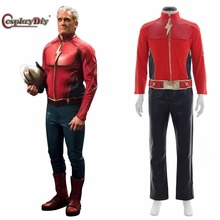 "Cosplaydiy Flash Comics the First Flash Cosplay Costume Jason Peter ""Jay"" Garrick Outfit for Halloween Top+Pants+Belt Customized(China)"