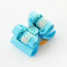 Armi store Handmade Accessories Pet Classic Blue Ribbon Hair Bow 22008 Dog Boutique Wholesale.