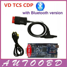 2pcs/lot+DHL Free Ship!! Black New Vci CDP Scanner Diagnostic Tool VD TCS CDP Bluetooth+ Install guide Video Works on Car/Truck