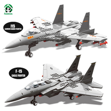 Wange F-15 Eagle Fighter Plane Building Blocks Kit Military Army Set Models & Building Toys for Children Bricks Compatible Brick(China)