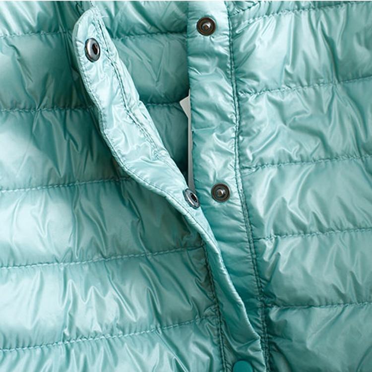 2017 New Women Ultra Light Down Jacket Portable Slim Female Jackets 90 White Duck Down  Collarless Size S-XXL
