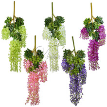 24pcs/lot 105cm Silk Wisteria Artificial Hanging Flowers Hanging Fake Flower for Wedding Party Home Garden Decoration