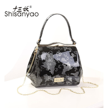 bags for women 2017 Fashion Ladies Evening bag Women handbag PU leather Shell handbags large Chain Shoulder Patent leather bags