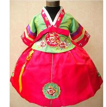 Embroidered Girls Hanbok Children's Clothing Dress Spring and Autumn Festival Kids Costumes Dancing for Stage Dresses(China)