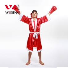 Wesing rode man boksen uniform kleding muay thai kick boksen mantel boksen gewaad(China)