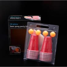 Board Game Beer Pong Kit Party Game Drinking Toy for Nightclub Bar Happy Hour Holiday Gag Toys Novelty Gifts with 22pcs Cups