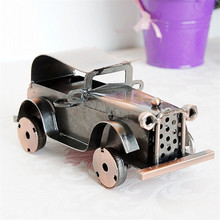 Retro Metal Handmade Car Home Decor Crafts Decoration Vintage Metal Car Creative Birthday Gifts Iron Figurine Cool Child Gift