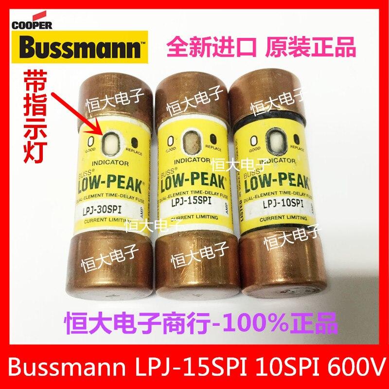 BUSSMANN LPJ-15SPI 15A 600V import fuse delay fuse with indicator light<br>