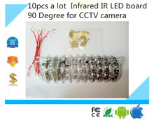 Luckertech Secure 10pcs a lot  Infrared IR LED board 90 Degree for CCTV cameras night vision DC12V power supply free shipping