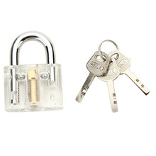 Metal Disc Type Padlock With Disc Detainer Lock Bump Key Tool Locksmith Training Skill Tools Set Durable Quality