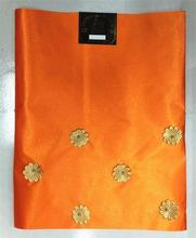 Orange African Scarf Wholesale And Retail African Gele Headtie Sego With Beads Hojilou 2pcs/lot Latest Nigerian Gele Headtie