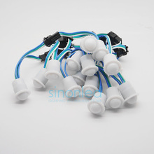 Wholesale 20pcs 16mm Width 1LEDs DC5V WS2811 IC Milky White Cover RGB LED Pixels String Full color Module Light Waterproof IP67