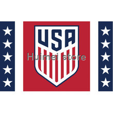 3ft x 5ft USA Soccer Flag banner 100D Digital Printing flag with 2 Metal Grommets(China)