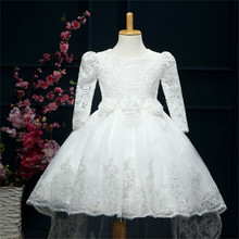 Teenage Girl Dress Children's Girl Clothing For Teenager Girls Kids Party Wear Lace Flower Wedding Bridal Gown 4-12Yrs Vestido(China)