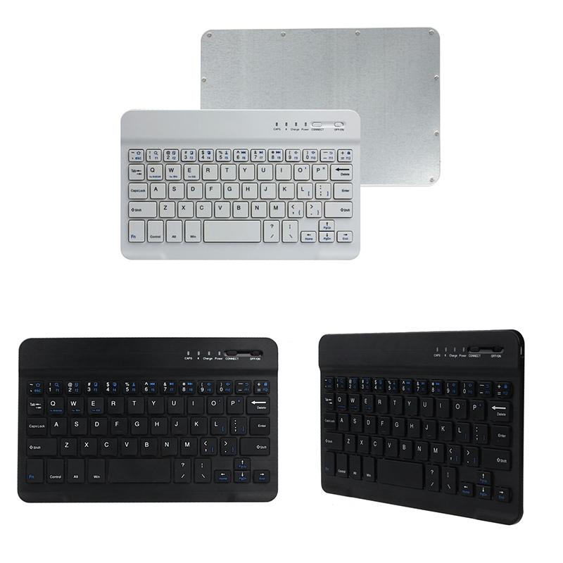 New Ultra Slim Aluminum Bluetooth Keyboard For IOS Android Windows PC Working Time 40 hours 59 keys Quality 1