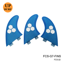 Surf SUP FCS G7 Fins Pranchas de Fiberglass Fins Glass Flex Honeycomb Logo Fins 5 Colors Available(China)