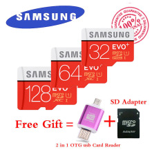 Samsung EVO PLUS 80MB/s Memory card 32GB class10 flash tf card micro sd card 64GB free 2 in 1 OTG Micro usb Card Reader