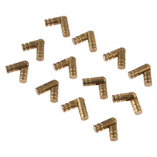 12Pcs Pure Copper Brass Barrel Hinge Jewelry Box Cabinet Hidden Invisible Concealed Barrel Hinge Mount Furniture Hardware 20*4mm