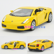 Candice guo! Hot sale Scale 1:32 KINSMART mini cool Gallardo alloy model car toy good for gift 1pc(China)