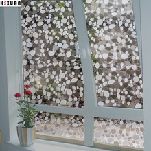decorative window insulation film 50x100cm 3d pebbles translucent living room glass window stickers Hsxuan brand 508003(China)