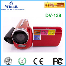 Home use digital camcorder DV-139 10s self-timer 12megapxiesl 0.3/1.3M CMOS max 32GB memory cheap photo camera made in china
