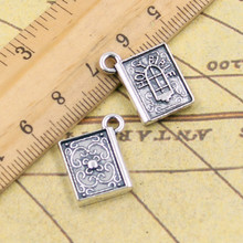 10pcs Charms book holy bible 13*15mm Tibetan Silver Plated Pendants Antique Jewelry Making DIY Handmade Craft(China)