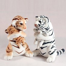 1pcs 48cm 3 Colors Big Tiger Stuffed Plush Toy Simulation Animal King Good Quality Sitting Posture Real Mother and Child Cute