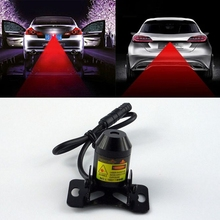 1Pcs Car Warning Laser Tail Fog Light Auto Brake Parking Lamp Rearing Lights External Car Styling Source Red Color Free Shipping