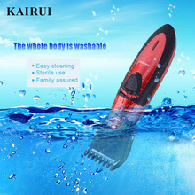 Fashion Full Waterproof Rechargeable Hair Clipper Trimmer Shaver Razor Cordless Adjustable Clipper Haircut for Men Baby