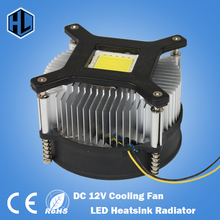 free shipping Hot 20W 30W 50w 100w high power led heatsink DC 12V led cooling fan led high power LED bulb radiator