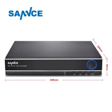SANNCE 4 Channel 8 Channel AHD DVR AHDM 720P/960H Security CCTV DVR 4CH 8CH Mini Hybrid HDMI DVR Support Analog/AHD Camera(China)