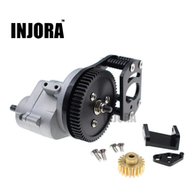 INJORA Metal R3 Scale Transmission/Center Gearbox with Motor Gear and Mount Holder  for 1/10 RC4WD Gelande II Defender D90